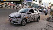 Tata Kite 5 compact sedan front three quarter spied in Tamil Nadu