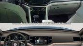 VW Teramont vs. VW CrossBlue concept interior dashboard