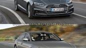 2017 Audi A5 Sportback vs. 2012 Audi A5 Sportback front three quarters