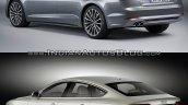2017 Audi A5 Sportback vs. 2012 Audi A5 Sportback rear three quarters left side
