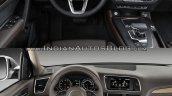 2017 Audi Q5 vs. 2013 Audi Q5 dashboard driver side