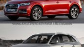 2017 Audi Q5 vs. 2013 Audi Q5 front three quarters left side