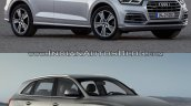 2017 Audi Q5 vs. 2013 Audi Q5 front three quarters