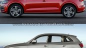 2017 Audi Q5 vs. 2013 Audi Q5 left side