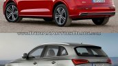 2017 Audi Q5 vs. 2013 Audi Q5 rear three quarters left side