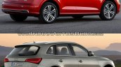 2017 Audi Q5 vs. 2013 Audi Q5 rear three quarters right side