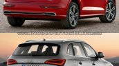2017 Audi Q5 vs. 2013 Audi Q5 rear three quarters second image