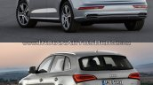 2017 Audi Q5 vs. 2013 Audi Q5 rear three quarters