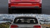 2017 Audi Q5 vs. 2013 Audi Q5 rear