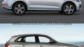 2017 Audi Q5 vs. 2013 Audi Q5 side profile