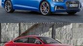 2017 Audi S5 Sportback vs. 2012 Audi S5 Sportback front three quarters