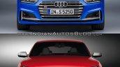 2017 Audi S5 Sportback vs. 2012 Audi S5 Sportback front