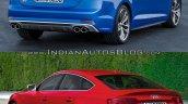 2017 Audi S5 Sportback vs. 2012 Audi S5 Sportback rear three quarters