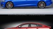 2017 Audi S5 Sportback vs. 2012 Audi S5 Sportback side profile