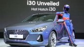 2017 Hyundai i30 front three quarters debut event