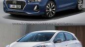 2017 Hyundai i30 vs. 2015 Hyundai i30 front three quarters