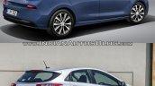 2017 Hyundai i30 vs. 2015 Hyundai i30 rear three quarters