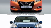 2017 Nissan Micra vs Old model front angle