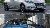 2017 Nissan Micra vs Old model front quarters