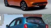 2017 Nissan Micra vs Old model rear quarter