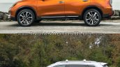 2017 Nissan Rogue (facelift) vs. 2014 Nissan Rogue - Image Gallery side profile