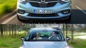 2017 Opel Zafira vs 2011 Opel Zafira front