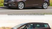 2017 Opel Zafira vs 2011 Opel Zafira side