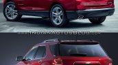 2018 Chevrolet Equinox vs 2016 Chevrolet Equinox rear three quarter
