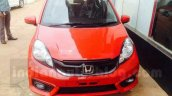 Honda Brio front facelift arrives at Indian dealership ahead of launch