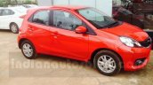 Honda Brio front three quarter facelift arrives at Indian dealership ahead of launch