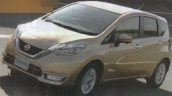 Nissan Note Hybrid front three quarters leaked image