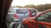 Perodua Axia rear spied in Mumbai