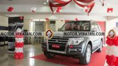 Relaunched Mitsubshi Montero front three quarter In Images