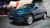 Skoda Kodiaq front three quarter unveiled in Paris