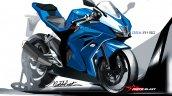 Suzuki GSX-R150 front three quarters rendering