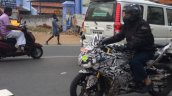 TVS Akula 310 (TVS Apache RTR 300) front three quarters spy shot