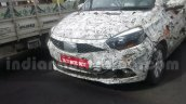 Tata Kite 5 compact sedan front spied on tests ahead of festive season launch