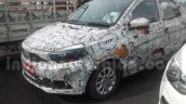 Tata Kite 5 compact sedan front three quarter spied on tests ahead of festive season launch