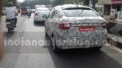 Tata Kite 5 compact sedan rear spied on tests ahead of festive season launch