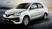 Toyota Etios facelift for India front three quarter revealed