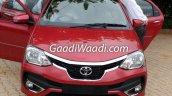 Toyota Etios facelift front India leaked