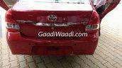 Toyota Etios facelift rear India leaked