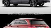 Volvo V90 Cross Country vs Mercedes E-Class All-Terrain rear three quarter