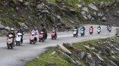 11 riders on the TVS Scooty Zest 110 Himlayan High