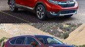 2017 Honda CR-V vs 2015 Honda CR-V front quarter