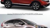 2017 Honda CR-V vs 2015 Honda CR-V front