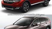2017 Honda CR-V vs 2015 Honda CR-V front three quarter