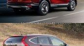2017 Honda CR-V vs 2015 Honda CR-V rear quarter