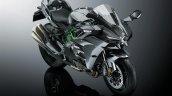 2017 Kawasaki Ninja H2 Carbon front three quarters studio image