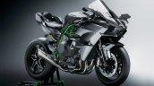 2017 Kawasaki Ninja H2R front three quarters studio image
